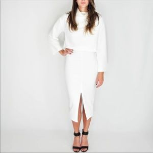 The Fifth label white ribbed pencil skirt sz M